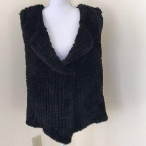 Nanette by  Nanette Lepore XL black faux fur vest